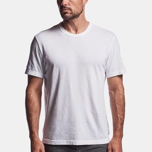 James Perse White Mens Crew Neck Tee